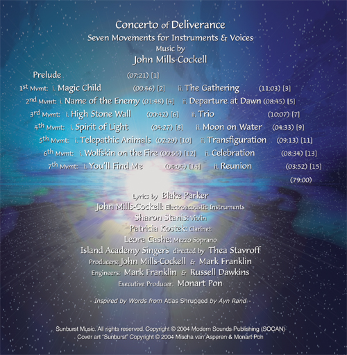 Titles from Concerto of Deliverance Album